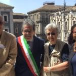 Con il sindaco di Catania Enzo Bianco